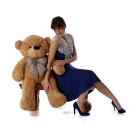 Shaggy Cuddles Soft and Huggable Amber Brown Teddy Bear 38in