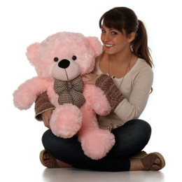 Lady Cuddles Soft and Huggable Pink Teddy Bear 30in