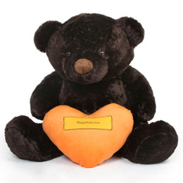 Munchkin Chubs Halloween Bear with Orange Happy Halloween Heart 60in
