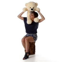 Cozy Cuddles Soft and Huggable Cream Adorable Teddy Bear 30in