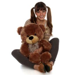 Sunny Cuddles Soft and Huggable Mocha Brown Teddy Bear 30in