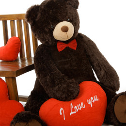 Adorable Chocolate Brown Valentine's Day Teddy Bear Baby Tubs - 42in