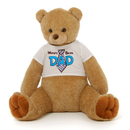 3½ ft Honey Tubs Amber Brown Giant Teddy Bear for Dad