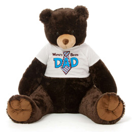 3½ ft Chocolate Brown Giant Teddy Bear For Dad