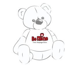 Giant Teddy Personalized Be Mine teddy bear tshirt