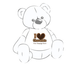 Personalized Easter I Love Chocolate Giant Teddy Bear shirt