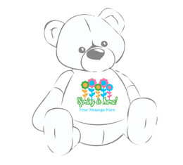 Spring is Here (Vibrant Flowers) Easter Teddy Bear T-Shirt