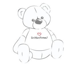 U+me=Prom? Teddy Bear T-Shirt