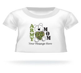 Mother's Day 2015 Army Mom Heart Teddy Bear T-shirt