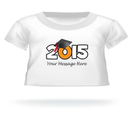 Personalized Graduation 2016 wearing cap w/tassel Teddy Bear T-shirt