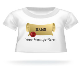 Personalized Graduation Diploma w/NAME Teddy Bear T-shirt