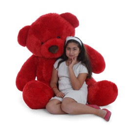 Huge Cuddly Life Size 60in Red Giant Teddy bear Riley Chubs
