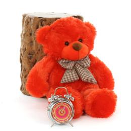 2ft Oversized Big Teddy Bear Lovey Cuddles Beautiful Orange Red Fur