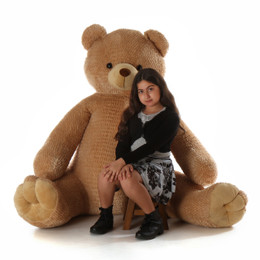70in Huge Life Size  Cuddly Sweet Amber Brown Teddy Bear Honey Tubs gift