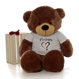 60in huge teddy bear in a Prom Shirt is a special way to ask your date
