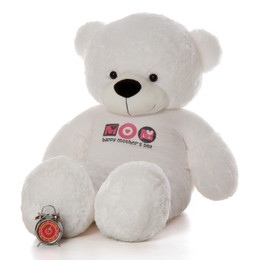 Life Size 6ft Happy Mother's Day White Teddy Bear Coco Cuddles