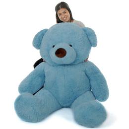 Giant Teddy Sammy Chubs Jumbo Blue Teddy Bear 60in