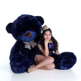 6ft Navy Blue Life Size Teddy Bear Royce Cuddles
