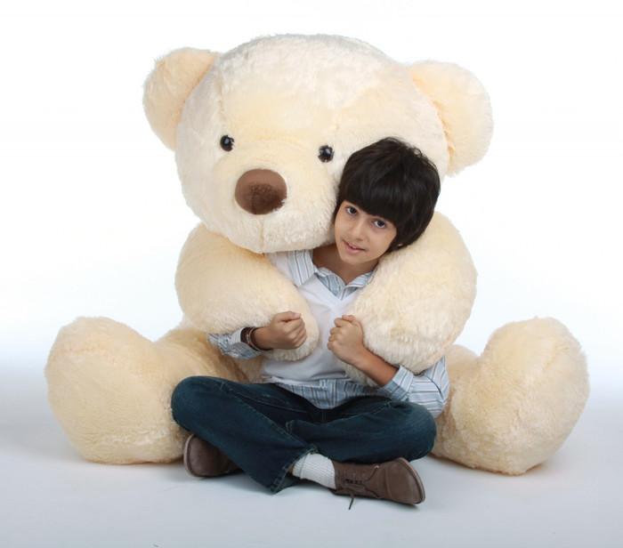 Smiley Chubs vanilla cream teddy bear 55in