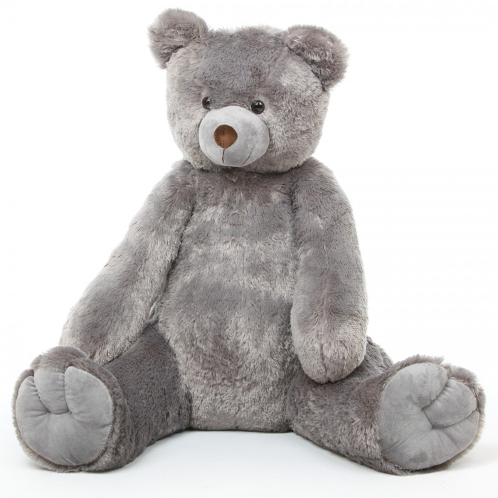 Sugar Tubs silver gray teddy bear 42in