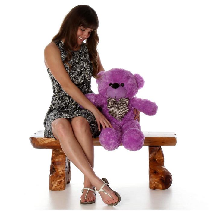 30in Oversized Purple Teddy Bear DeeDee Cuddles Huge and Cuddly