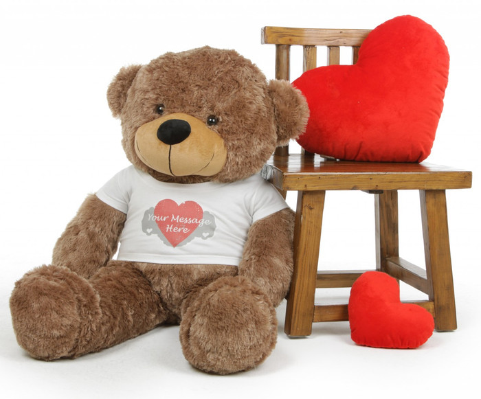 Send a Lovely Personalized Teddy Bear like Sunny to Deliver Your Custom Message!