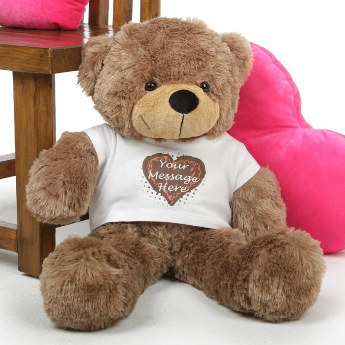 Sweet Mocha Hugs form a Special Personalized Teddy Bear!