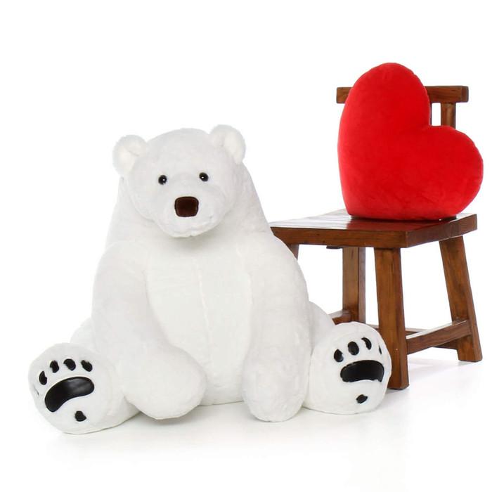 Enormous White Polar Bear 35in Marshmallow Frost