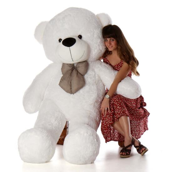 Coco Cuddles 72 White Life Size Plush Teddy Bear Giant
