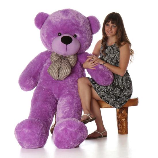 Deedee Cuddles 55 Quot Lilac Huge Plush Teddy Bear Giant