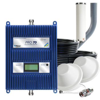 WilsonPro 70 Cell Phone Signal Booster System with 2 Dome Antennas 465134 (50 Ohm): Kit