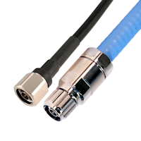 400-type coax cable and plenum air coax cable terminated with N-male connectors