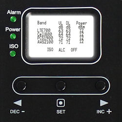 HiBoost LCD display and controls