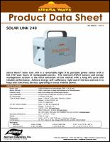 Download the Sierra Wave Solar Link 240 spec sheet (PDF)