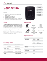 Download the weBoost 470103 Connect 4G spec sheet (PDF)