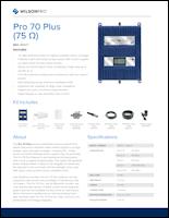 Download the Wilson Pro 70 PLUS spec sheet (PDF)