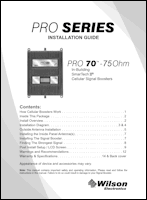 Download the WilsonPro 463134 Pro 70 install guide (PDF)