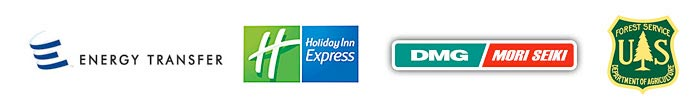 Energy Transfer, Holiday Inn Express, DMG/Mori Seki, U.S. Forest Service