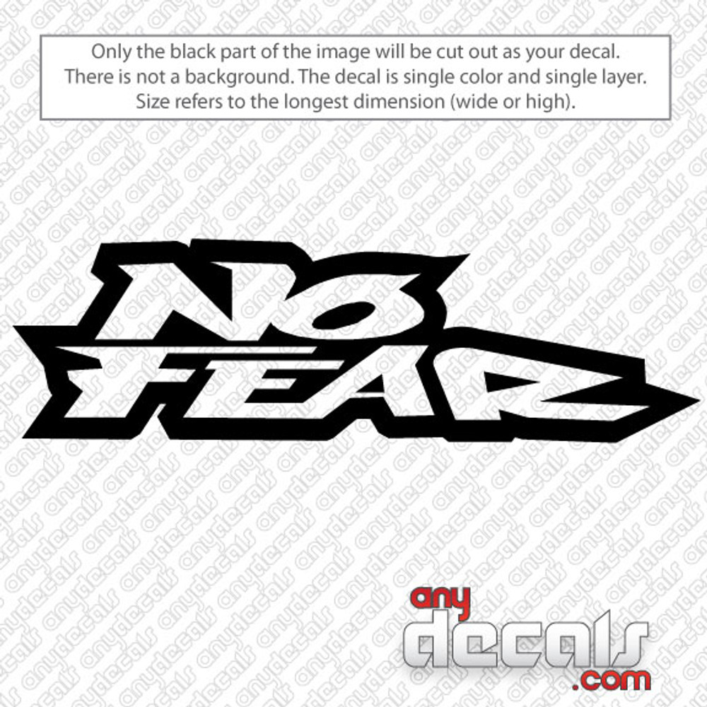 Motocross Car Decals No Fear Car Decal AnyDecalscom - Vinyl decals car