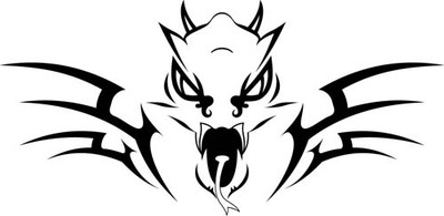 Animal Car Decals Car Stickers Dual Dragon Car Decal