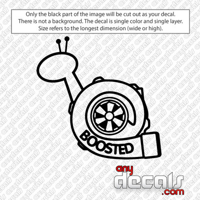 Boosted Turbo Car Decal