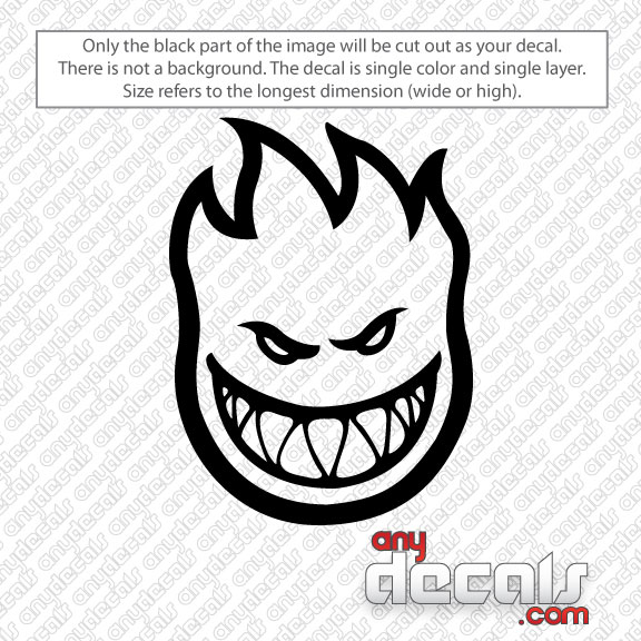 Car Decals Car Stickers Spitfire Flame Skate Car Decal - Flame stikers for car