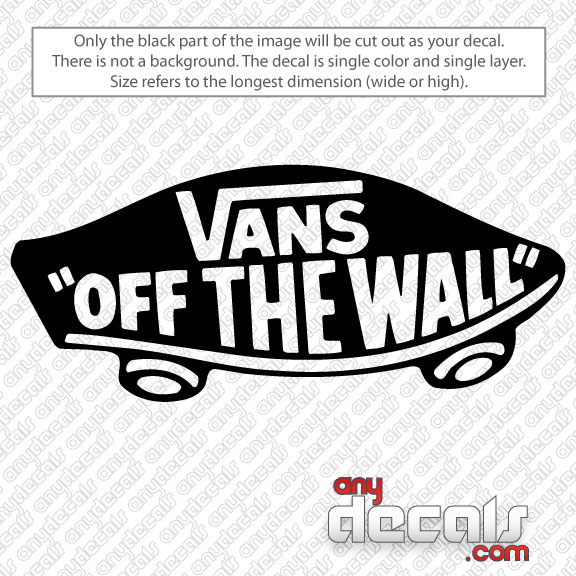 Car Decals Car Stickers Vans Off The Wall Skateboard Car Decal - Wall decals cars