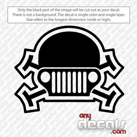 Jeep Car Decals Car Stickers Jeep Skull Car Decal AnyDecalscom - Vehicle decals and stickers