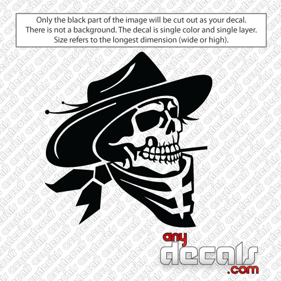 Car Decals Car Stickers Cowboy Skull Car Decal AnyDecalscom - Stickers and decals for cars