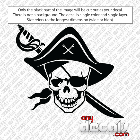 Car Decals Car Stickers Pirate Skull Car Decal AnyDecalscom - Stickers and decals for cars