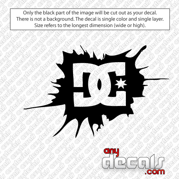 Car Decals Car Stickers DC Shoe Splattered Car Decal - Design decals for cars