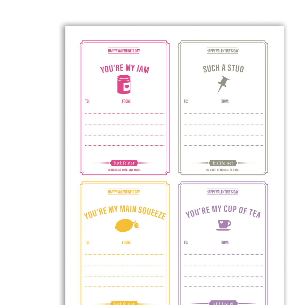 Free Printable Compliment Cards for Valentine's Day.