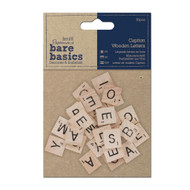 Papermania Bare Basics Caption Wooden Letters 30 pcs by DoCraft