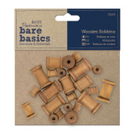 Papermania Bare Basics Wooden Bobbins 22 pcs by DoCraft